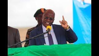Rais Magufuli azindua ukuta wa Mirerani, ampa milioni 100 mzee aliyegundua Tanzanite