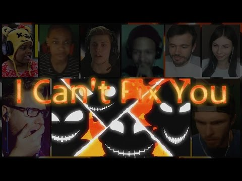 """""""I Can't Fix You"""" Song By The Living Tombstone & Crusher-P Reaction Mashup"""