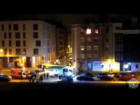 Una persona fallecida y tres heridos en un incendio en un piso de Burgos