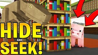 MINECRAFT MORPH MOD HIDE AND SEEK ON ANIMAL SCHOOL