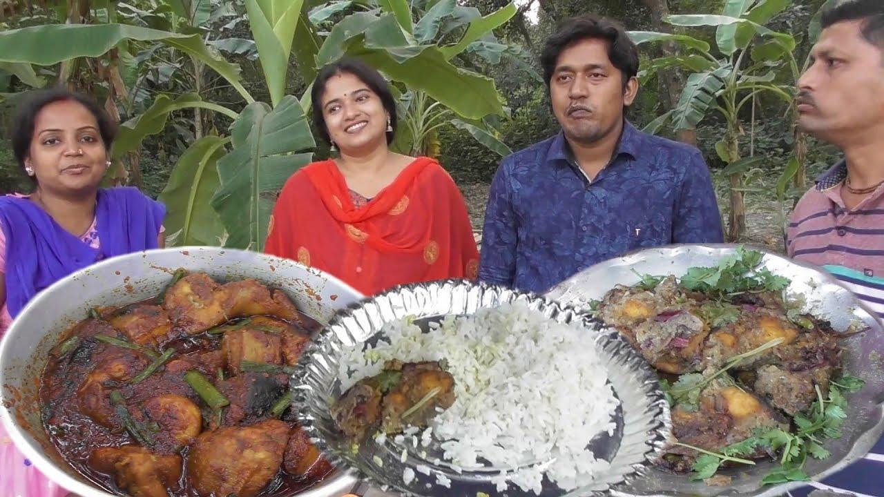 Uff Darun Picnic Rice with Mulo Paturi | Sahi Rui Fish | Sankar Mach Tel Jhal | Salad Raita