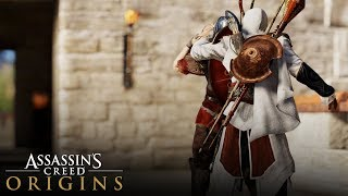 Assassin's Creed Origins - Reliving AC Brotherhood! (Killing Roman Soldiers with Ezio's Outfit)