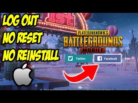 HOW TO LOG OUT FACEBOOK ACCOUNT IN PUBG MOBILE (iOS Devices)