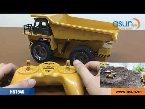 Hướng Dẫn Xe Tải Ben Điều Khiển Từ Xa Huina Toys HN1540 2.4Ghz - Asun.vn