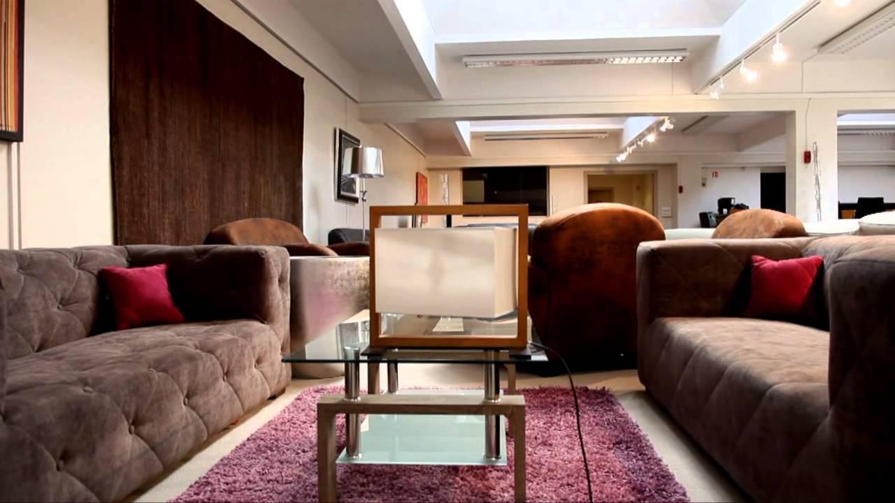 Canapé en tissu marron   modèle poznan   youtube