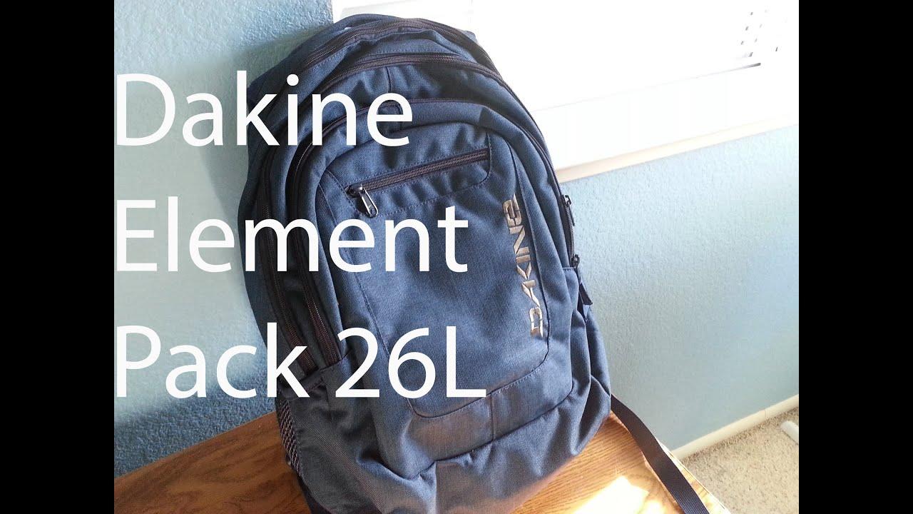 BACK TO SCHOOL BACKPACK (Dakine Element 26L) - YouTube