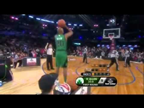 Ray Allen Shooting Form - Slow Motion - YouTube