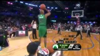 Ray Allen Shooting Form - Slow Motion
