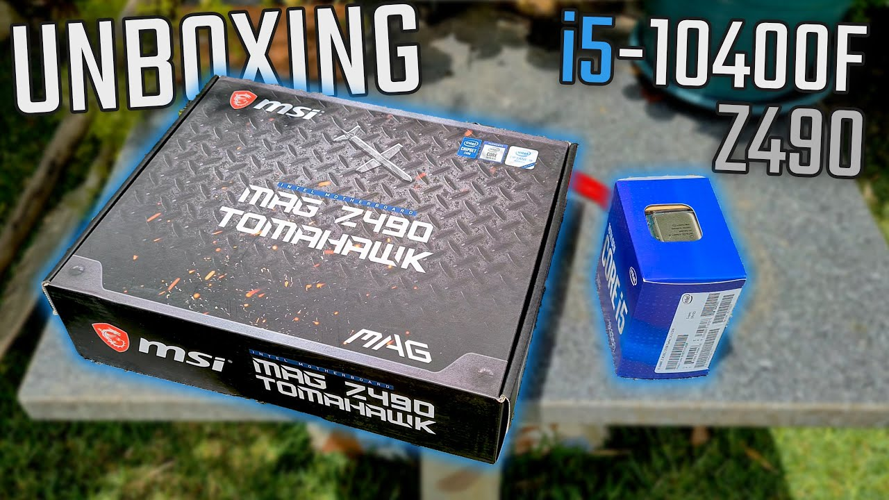 Core i5 10400F + MSI Z490 Tomahawk [ Casual Unboxing ]