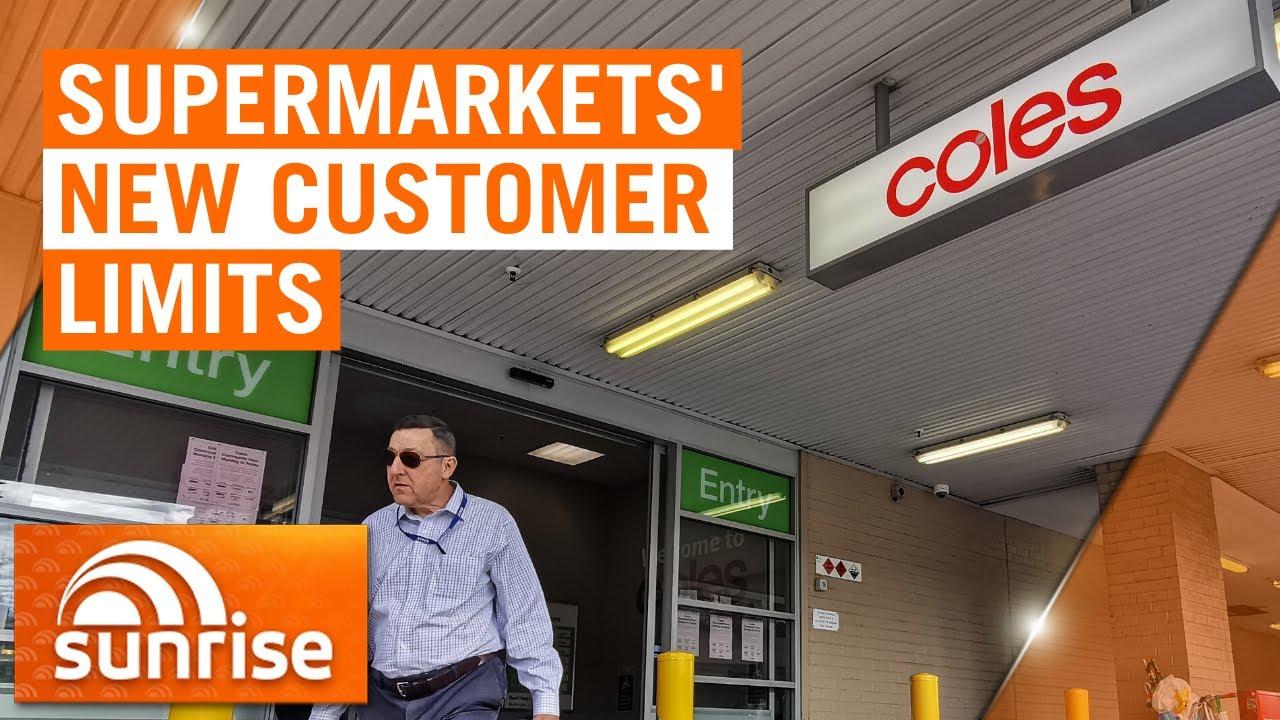Supermarkets introduce coronavirus customer limits inside stores | 7NEWS – 7NEWS Australia