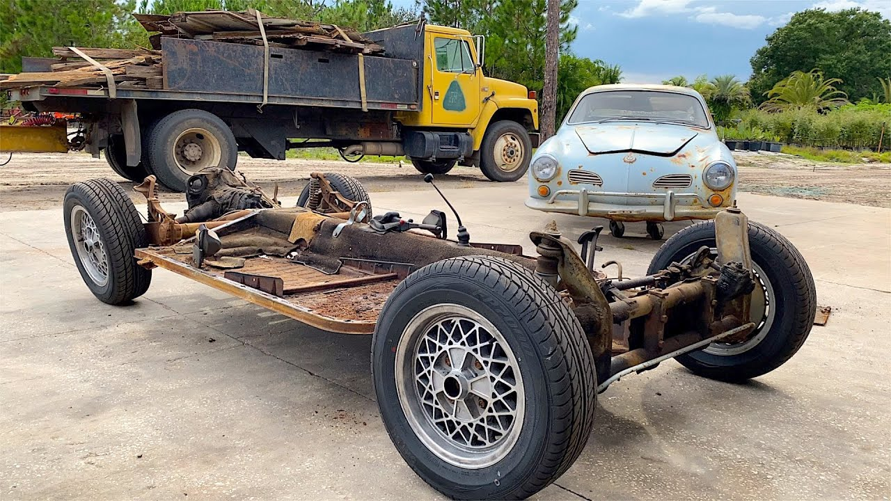VW Karmann Ghia Restoration - Clean & Inspect Chassis! Day 3