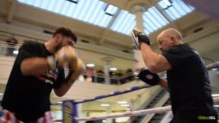 WHITE RHINO POWER! - DAVE ALLEN SMASHES PADS AHEAD OF SAMIR NEBO FIGHT IN NEWCASTLE / RITSON-PATERA