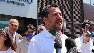 """Salvini a Firenze per Ceccardi:""""Candidiamo un sindaco, gli altri un uomo che fa politica da 50 anni"""""""