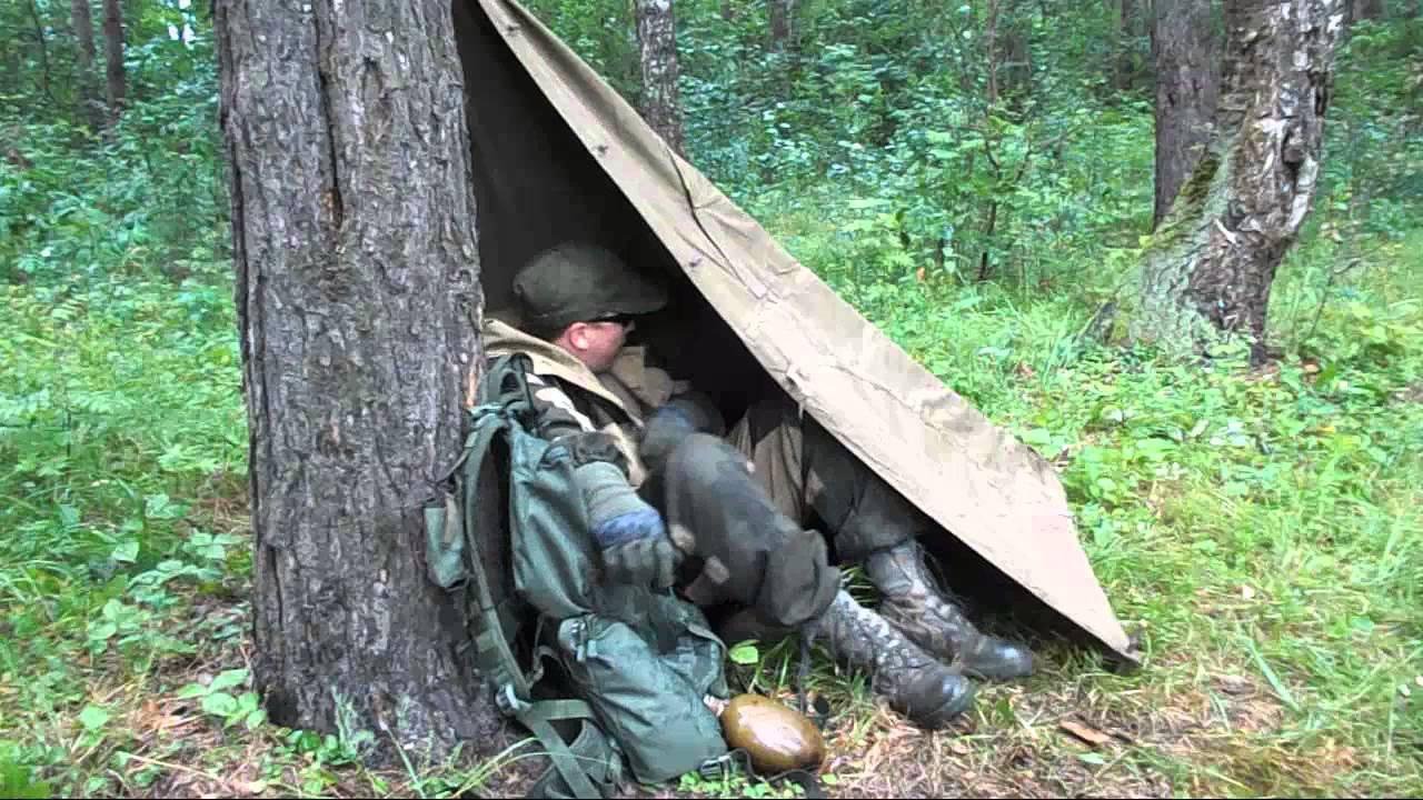 Палатка лагерная солдатская - YouTube