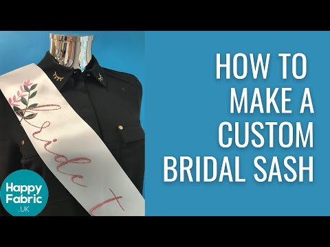 How to Make Your Own Custom Bridal Sash - With Iron-On Vinyl