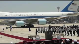 Air Force One touches down in Israel