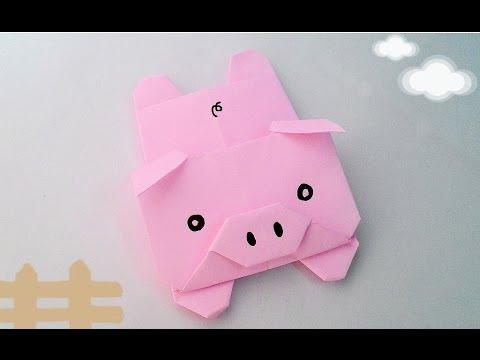 Origami Pig พับหมูน้อยนอนสบาย (15x15cm, 2)  YouTube