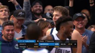 Luka Dončić 11 Straight Clutch Points to Steal a Win Over Rockets! WOW!