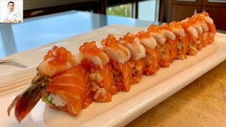 Jessie's Roll | Reverse Inside Out Noriless Sushi Roll
