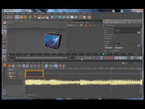 Добавляем звук, картинку и видео в проект Cinema 4d.