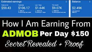 admob earningh proof 21 jan 2019