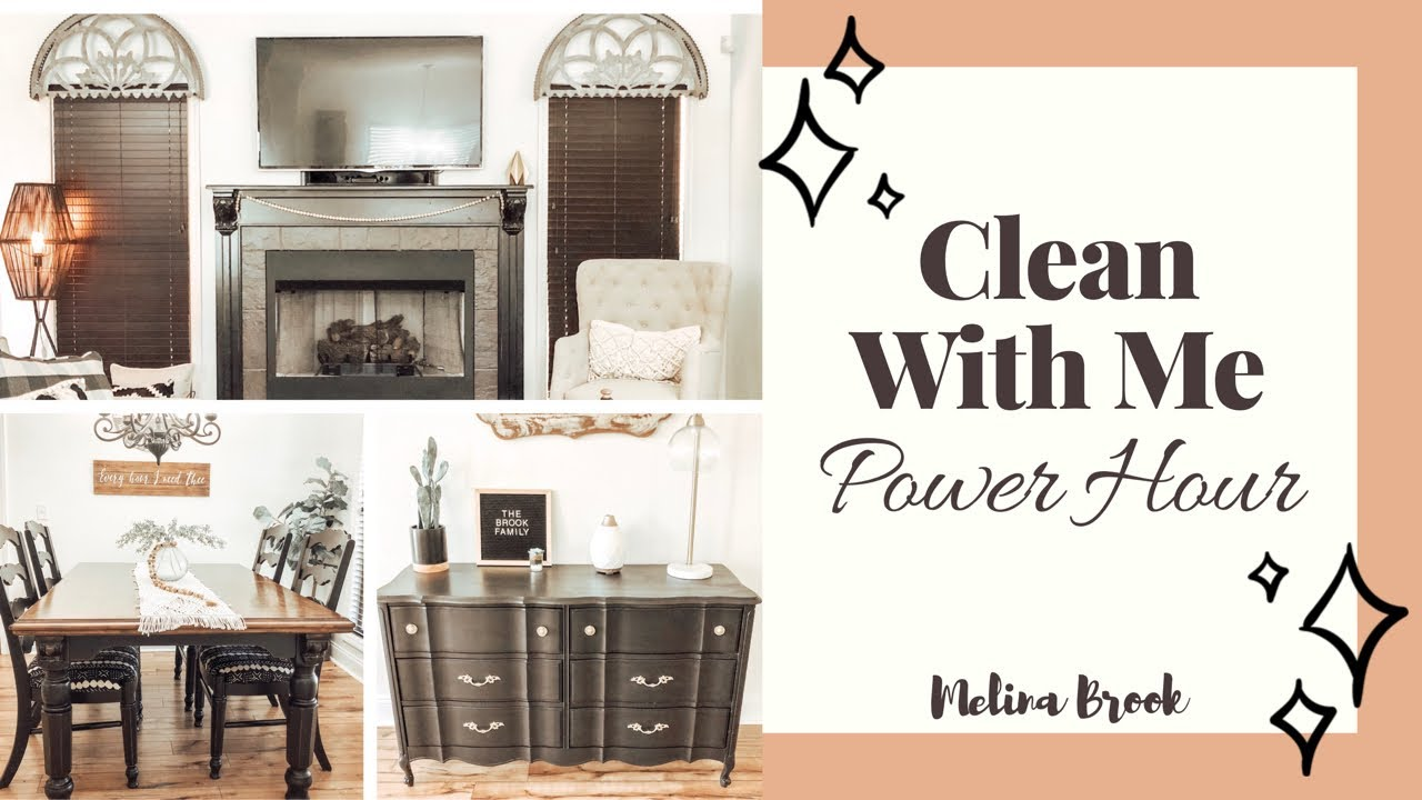 Clean With Me Power Hour Cleaning Stay At Home Mom Cleaning Routine 2019