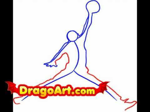 How To Draw Michael Jordan Logo, Step By Step