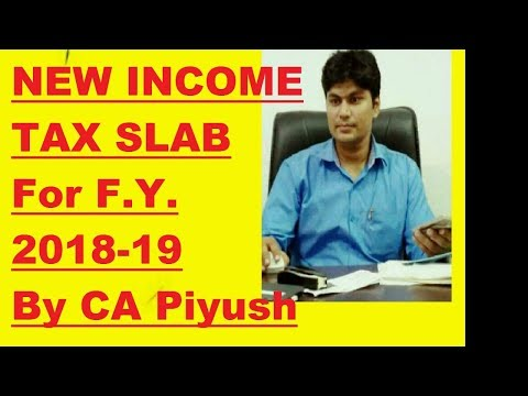 Income Tax Slab Financial Year 2018-19 (Assessment year 2019-20) For Salaried/Business Man