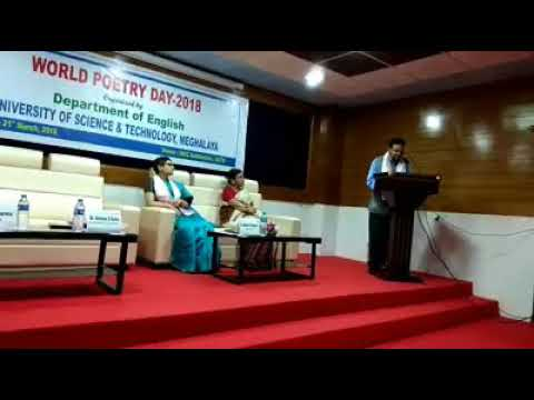 Poetry Reading by Dr. Ananya S. Guha on the occasion of World Poetry Day  at USTM.