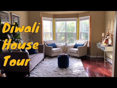 Diwali House Decoration Tour 2019  // Indian NRI Diwali Home Tour // Ami's Lifestyle