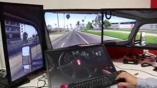 American Truck Simulator - Custom 4-monitor (3+1) Test