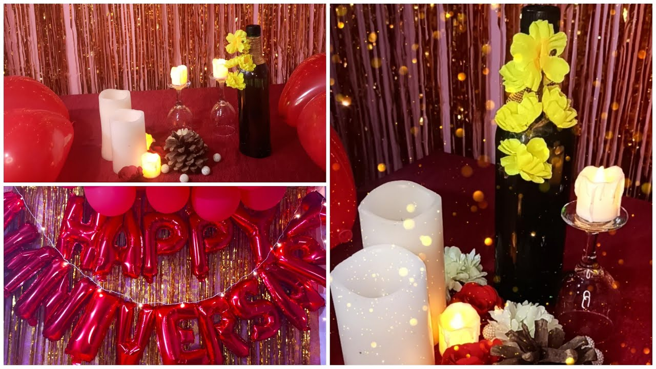 very easy decoration idea from foil curtain and balloons romantic room decor ideas from foil balloon