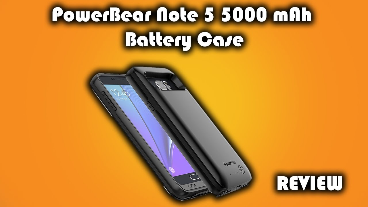 best service fa83d a73e4 PowerBear 5000mAh Galaxy Note 5 Battery Case Review