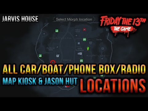 Jarvis House (All Car/Boat/Radio/Kiosk & Jason Hut Map Locations) - Friday The 13th The Game