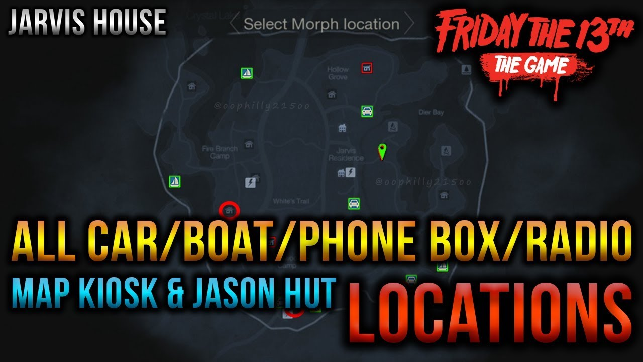 Jarvis House All Car Boat Radio Kiosk amp Jason Hut Map
