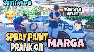 28TH VLOG!! SPRAY PAINT PRANK SA KOTSE NI KUYA JM!!