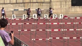 Diego Delmónaco Eyzaguirre,110 vallas Cat juvenil (0,99 mts). 14,23 ss  V+1,4