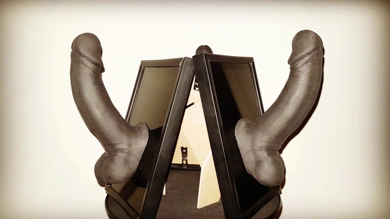Big Black Penis Art Sculpture