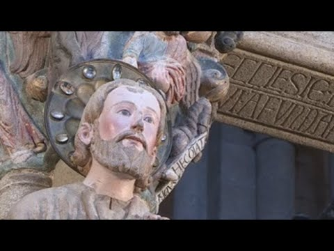 La catedral de Santiago de Compostela presenta el Pórtico de la Gloria