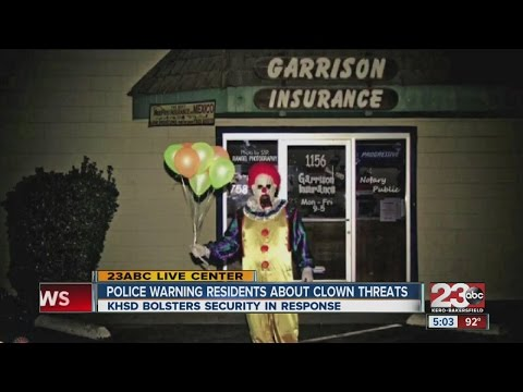 Police warning residents about clown threats