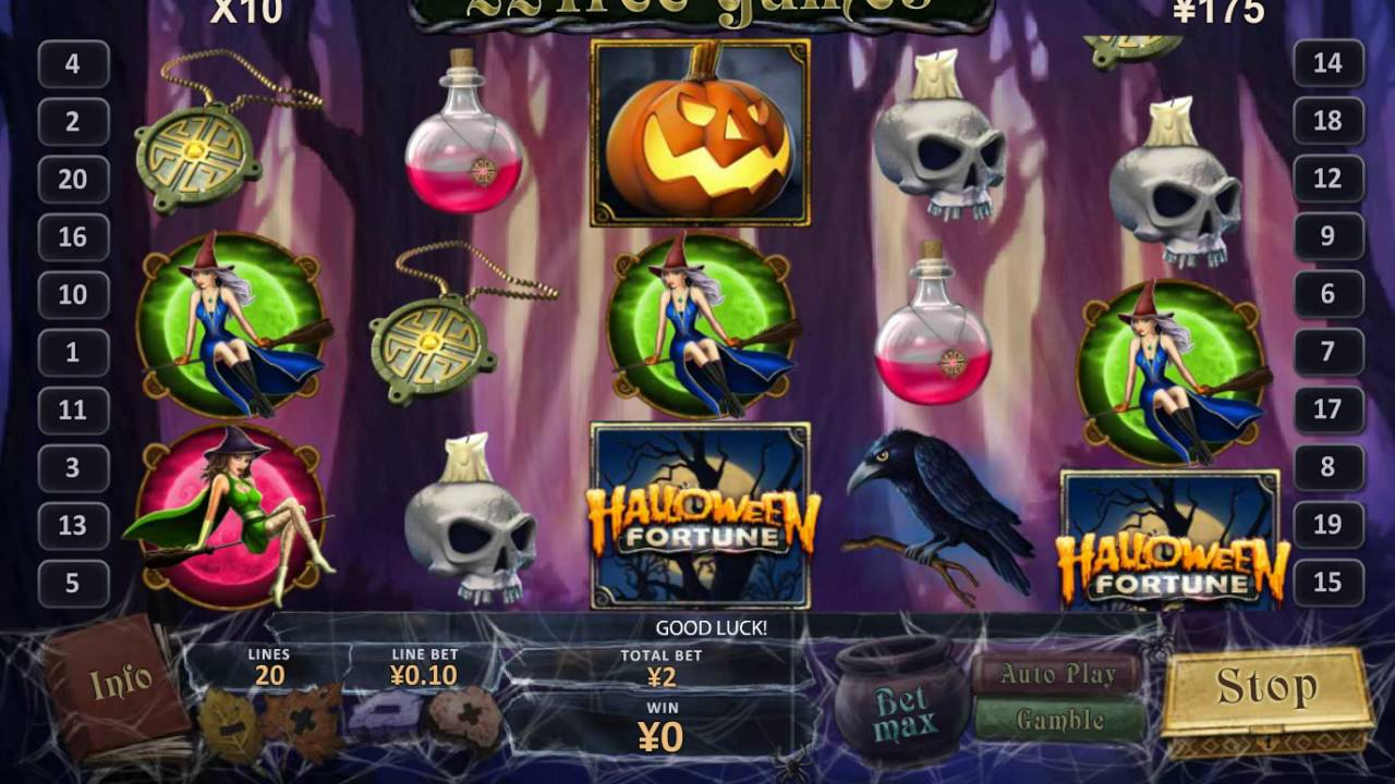 halloween fortune big win playtech slot game youtube