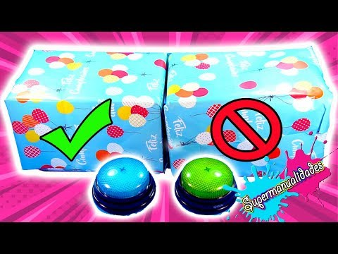 DON'T choose the wrong birthday gift (Slime challenges) - Supermanualidades
