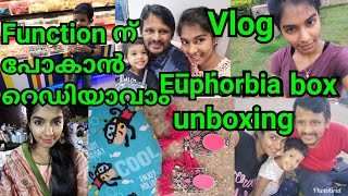 Goa Vlog|GRWM for function|Easy salwar makeup in malayalam|euphorbia box april 2019|Asvi Malayalam