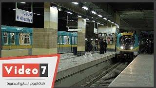 شاهد فى دقيقة..  مترو مصر الجديدة قبل افتتاحه بأيام