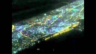 Dubai from sky at night