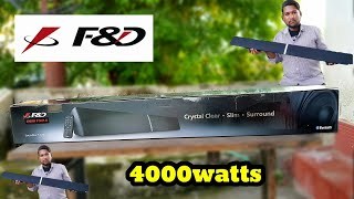 F amp D T-180X 2 0 SOUNDBAR UNBOXING REVIEW 4000watts Only 5000rs