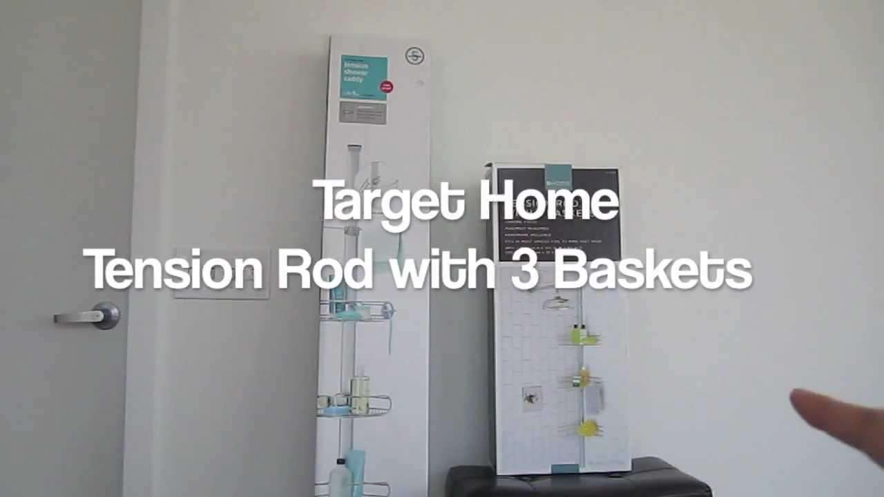 Simple Human Tension Shower Caddy And Target Review   YouTube