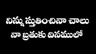 Ninnu Stutinchina Chalu Original Song || Telugu Jesus Song New