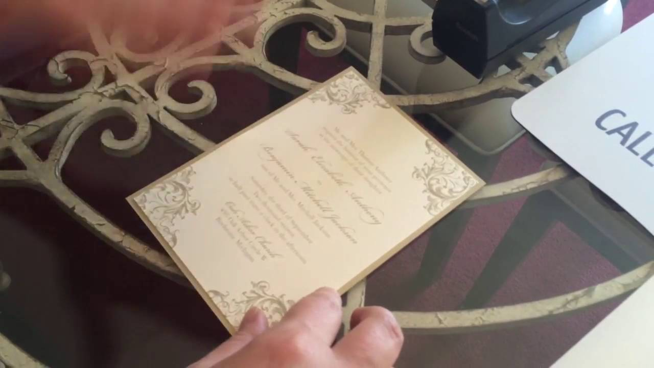 Assembling a layered wedding invitation with a belly band youtube assembling a layered wedding invitation with a belly band junglespirit Image collections