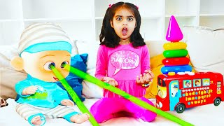 Ashu playing with baby doll and toys for Kids